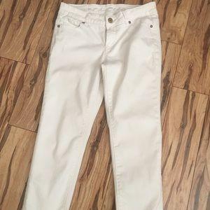 BUFFALO David Bitton White Cropped Skinny Jeans